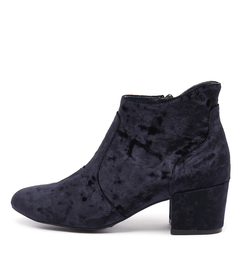 Mollini Penda Navy Casual Ankle Boots