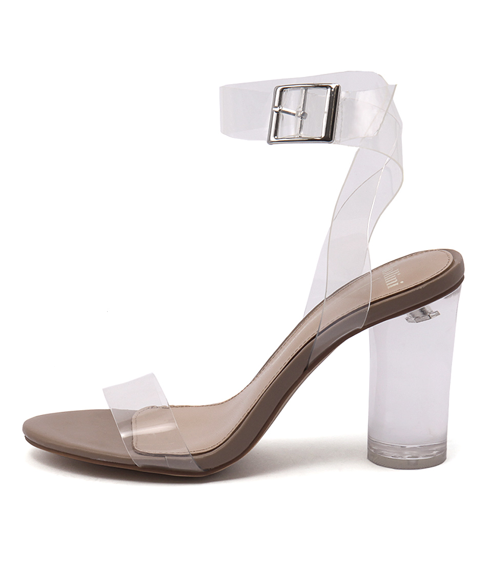 Mollini Random Clear Nude Heeled Sandals