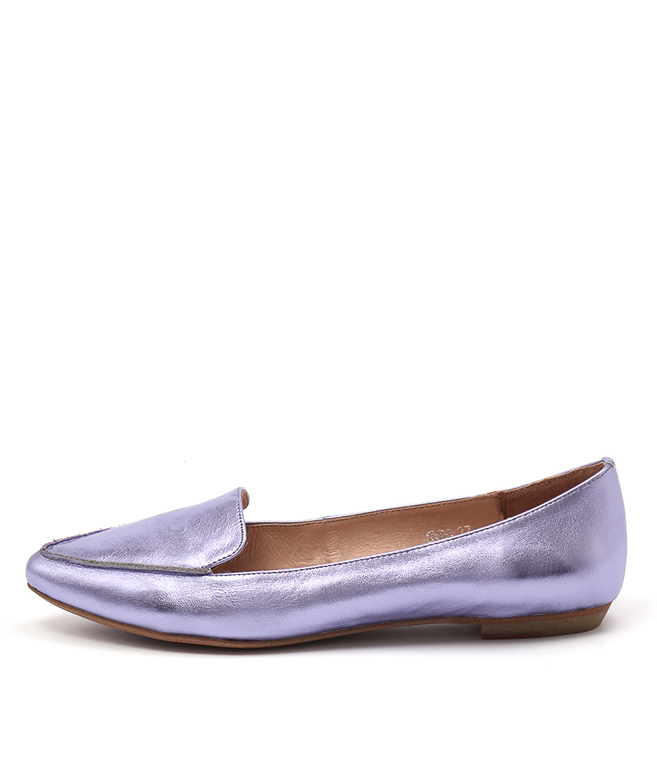 Mollini Gyro Lilac Metallic Flat Shoes