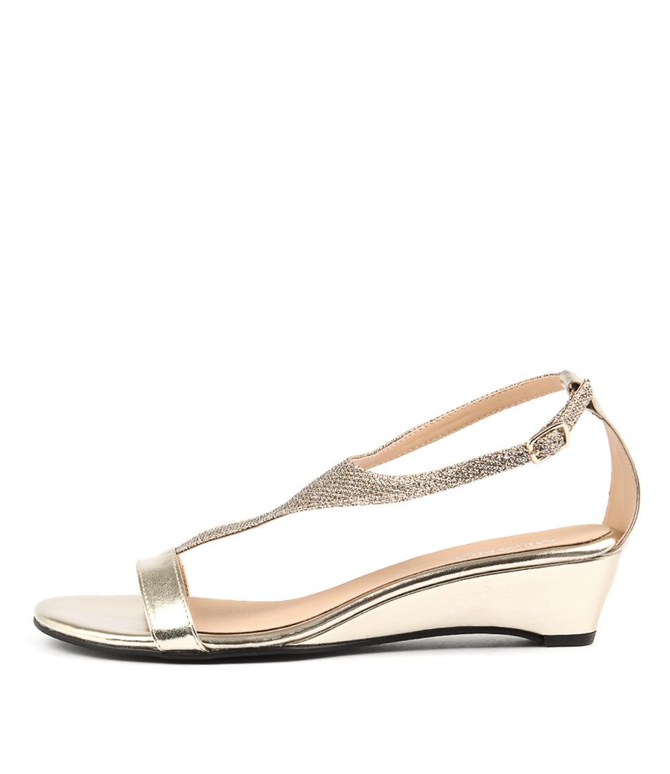 Misano Pimm Gold Heeled Sandals