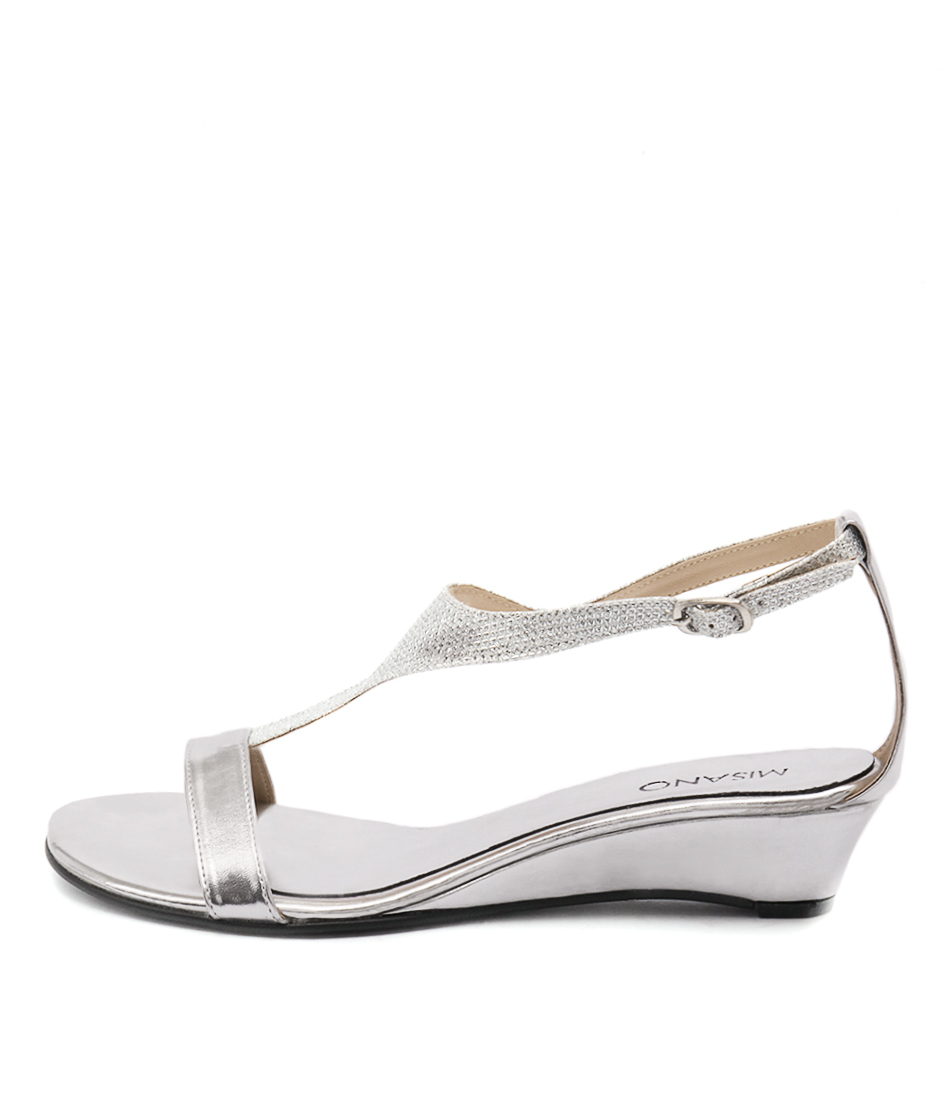 Buy Misano Pimm Silver Sandals Flat Sandals online with free shipping
