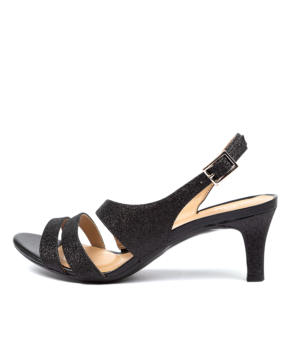 Buy Naturalizer Taimi Black Glitter Heeled Sandals online with free shipping