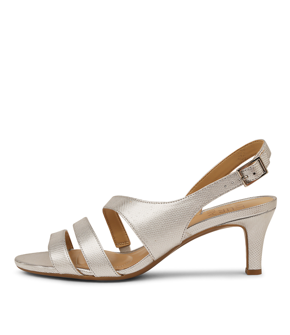 Buy Naturalizer Taimi Silver Pearl Heeled Sandals online with free shipping