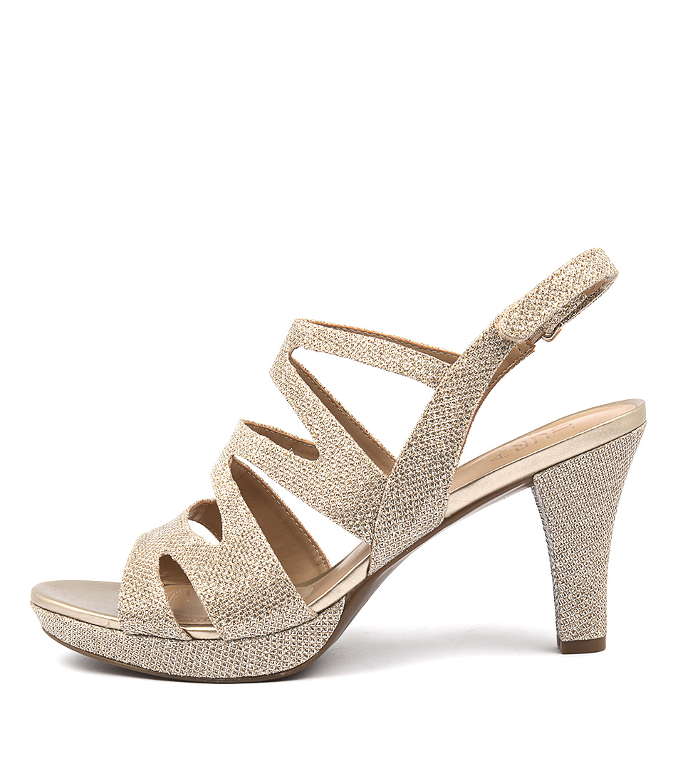 Buy Naturalizer Pressley Platina Gold Heeled Sandals online with free shipping
