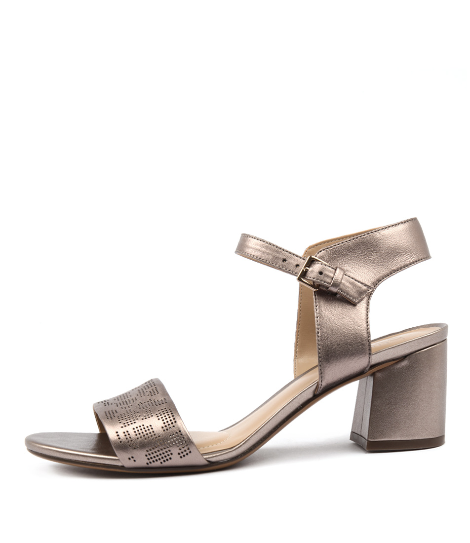 Naturalizer Caitlin Na Bronze Heeled Sandals