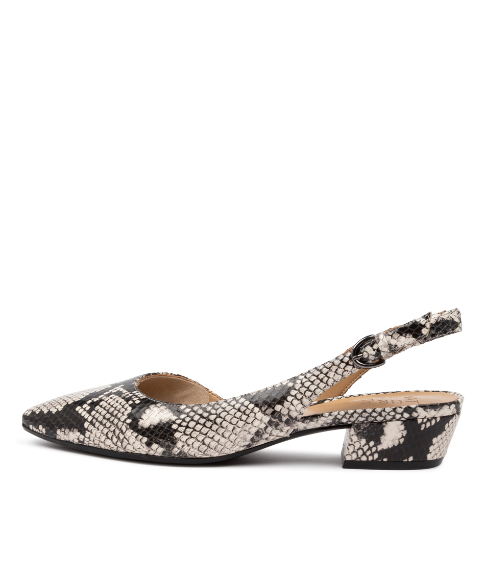 Buy Naturalizer Banks Na Black White High Heels online with free shipping