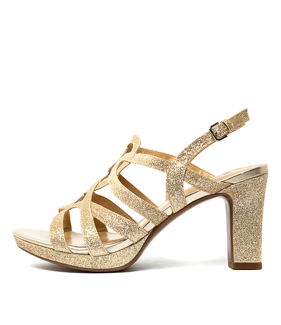 Buy Naturalizer Cameron Na Gold Glitter High Heels online with free shipping