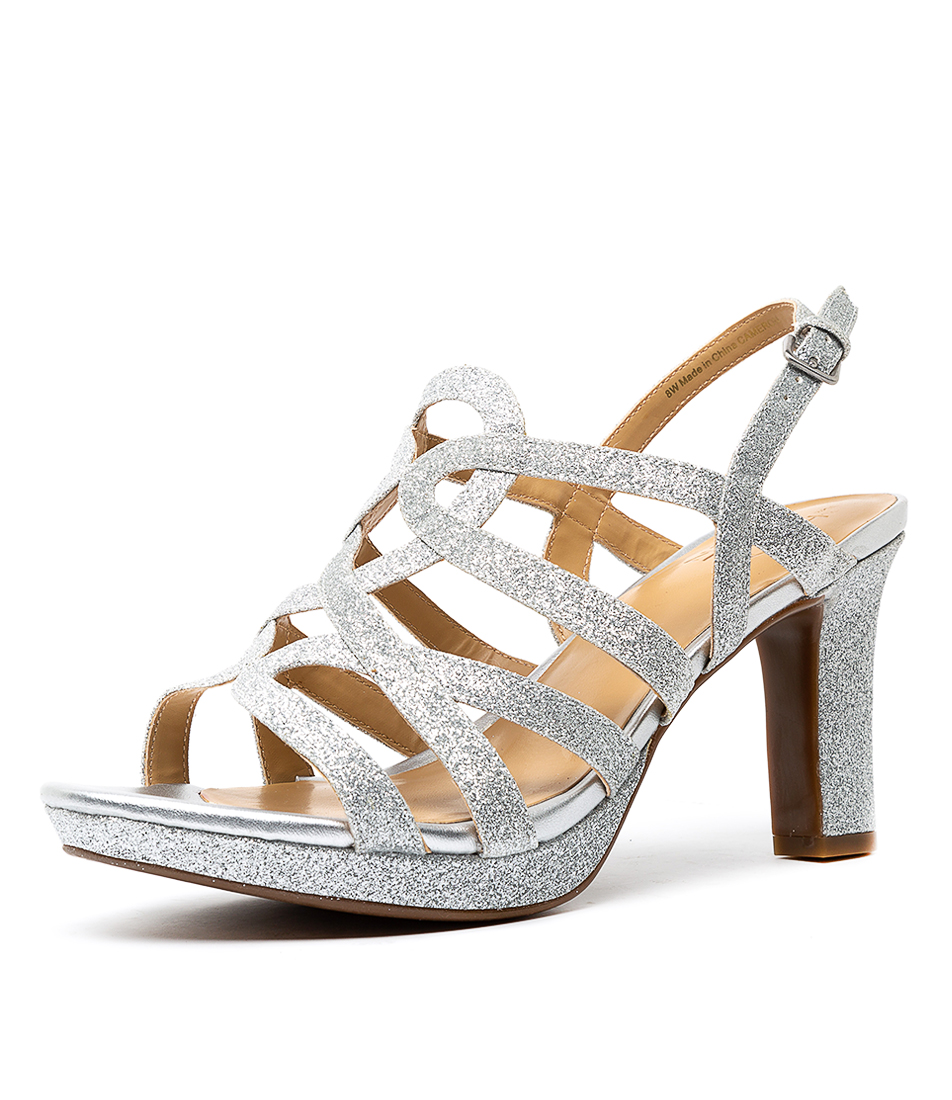 7457a1fbd3 New Naturalizer Cameron Silver Glitter Womens Shoes Party Shoes ...