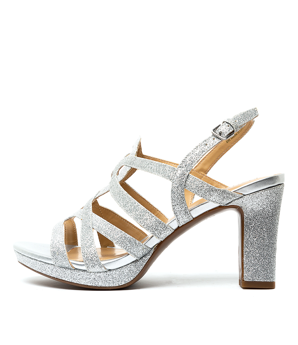 Buy Naturalizer Cameron Na Silver Glitter High Heels online with free shipping