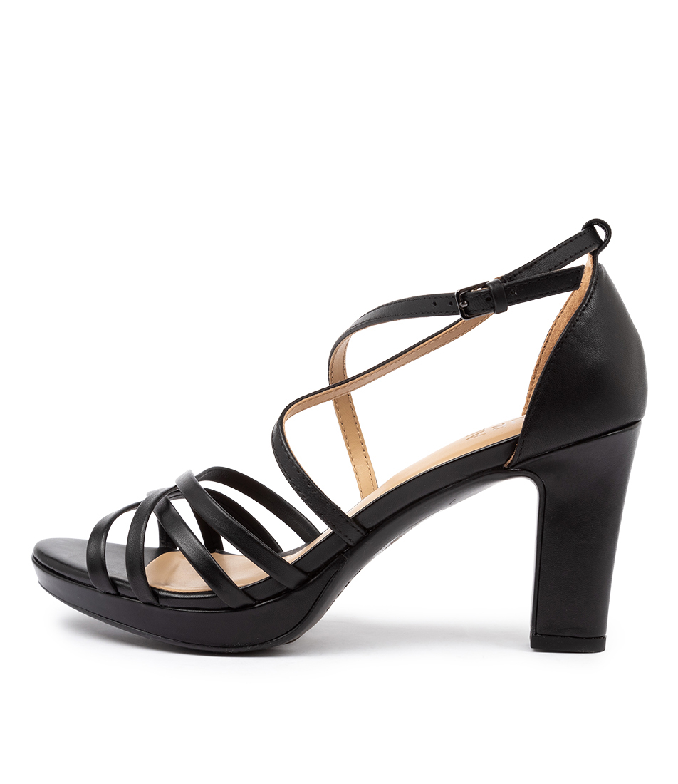 Buy Naturalizer Cecile Na Black Heeled Sandals online with free shipping