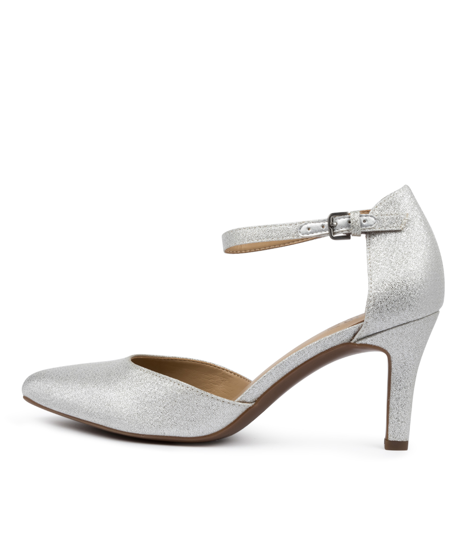 Buy Naturalizer Emilie Na Silver Glitter High Heels online with free shipping