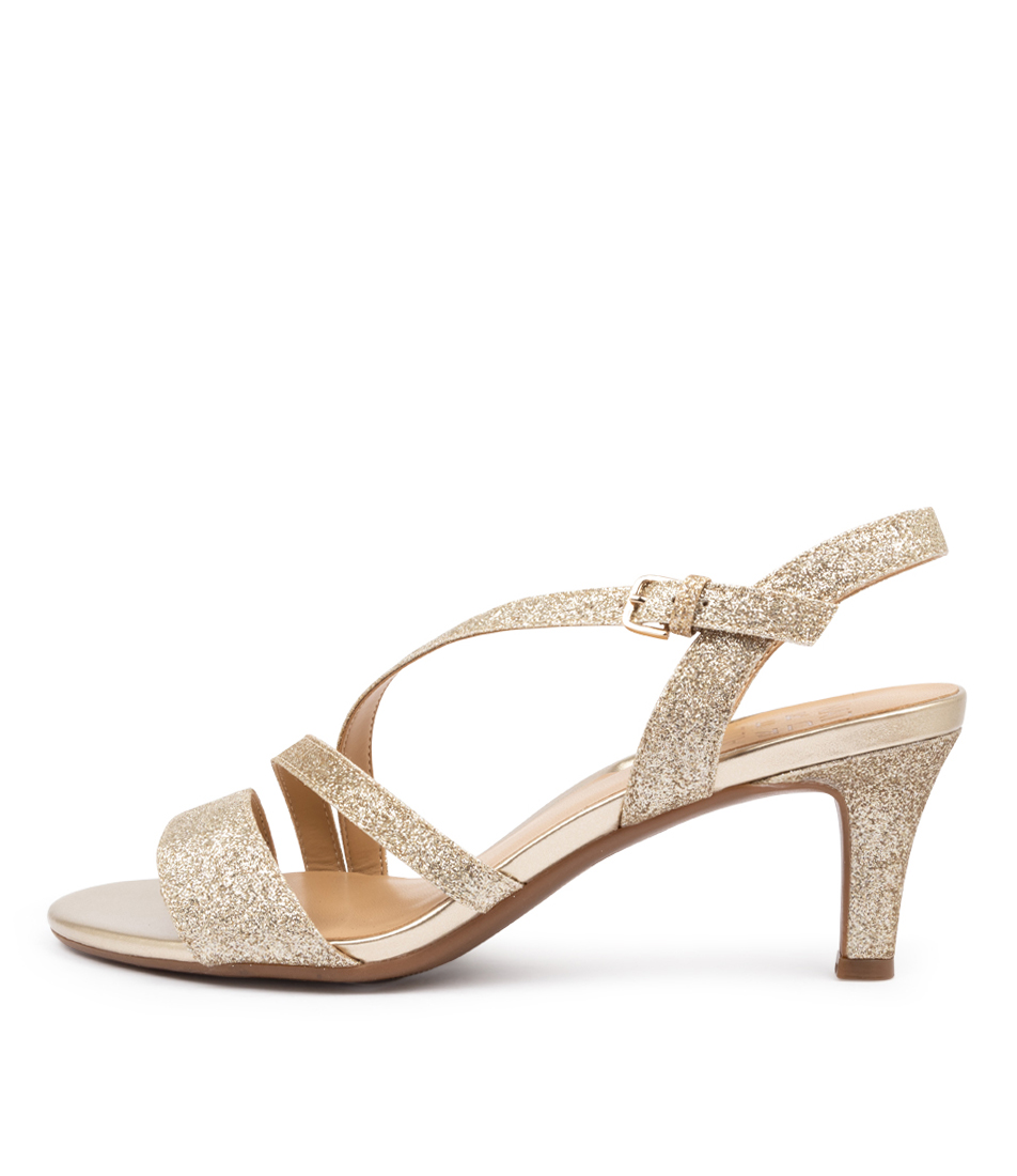Buy Naturalizer Hanah Na Gold Glitter Heeled Sandals online with free shipping