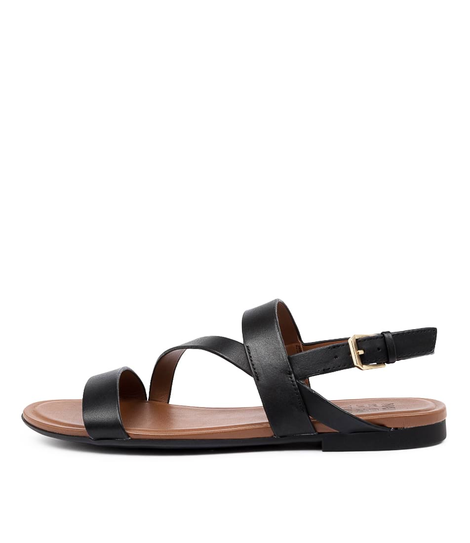 Buy Naturalizer Tru Na Black Flat Sandals online with free shipping