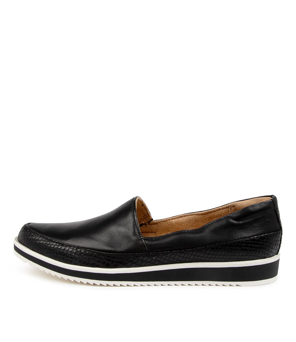 Buy Naturalizer Beale Na Black Snake Flats online with free shipping