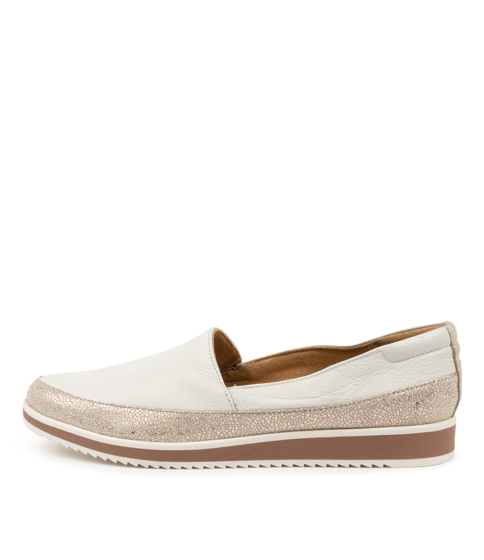 Buy Naturalizer Beale Na White Shimmer Flats online with free shipping