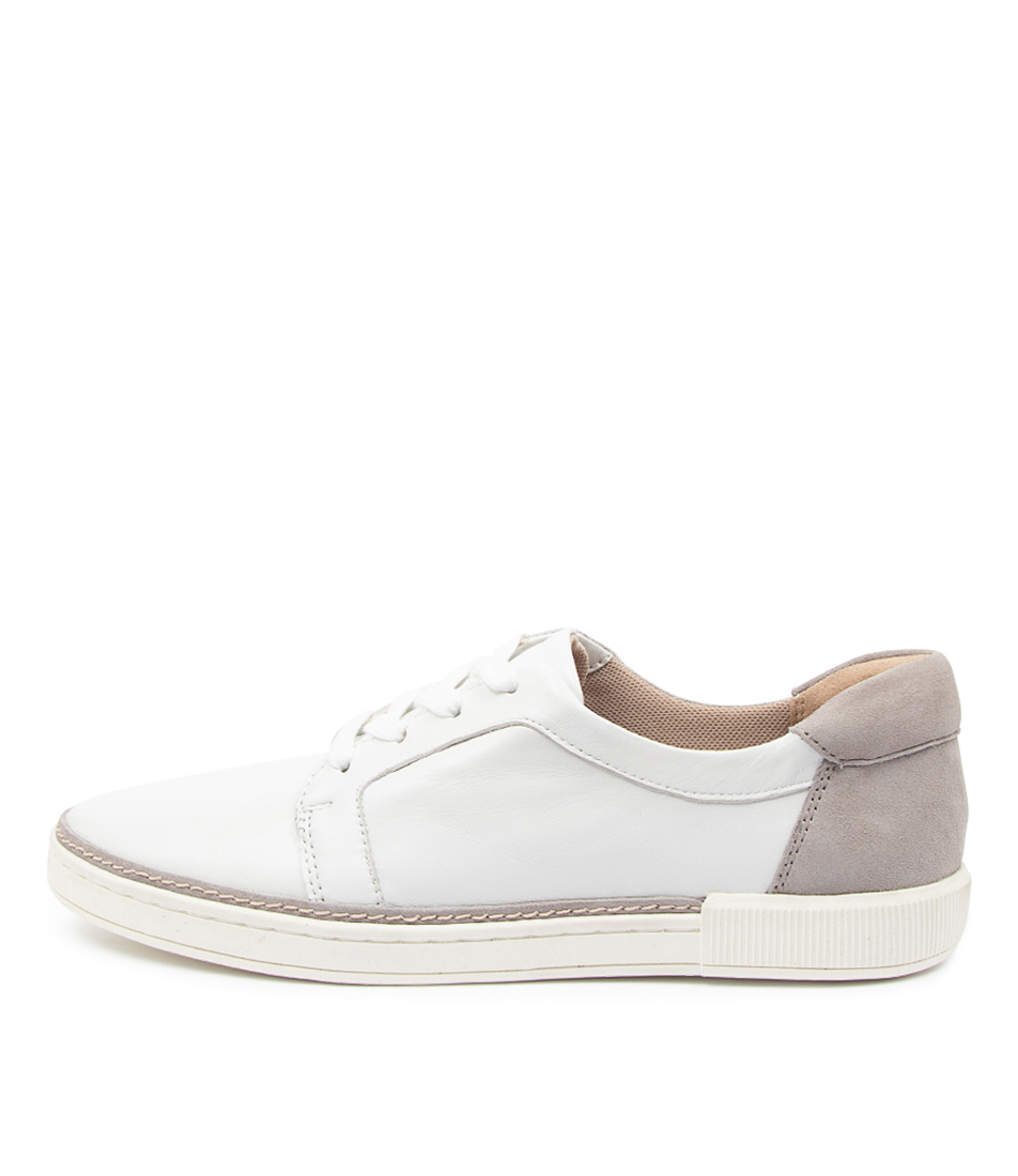 Buy Naturalizer Jane Na White Grey Sneakers online with free shipping