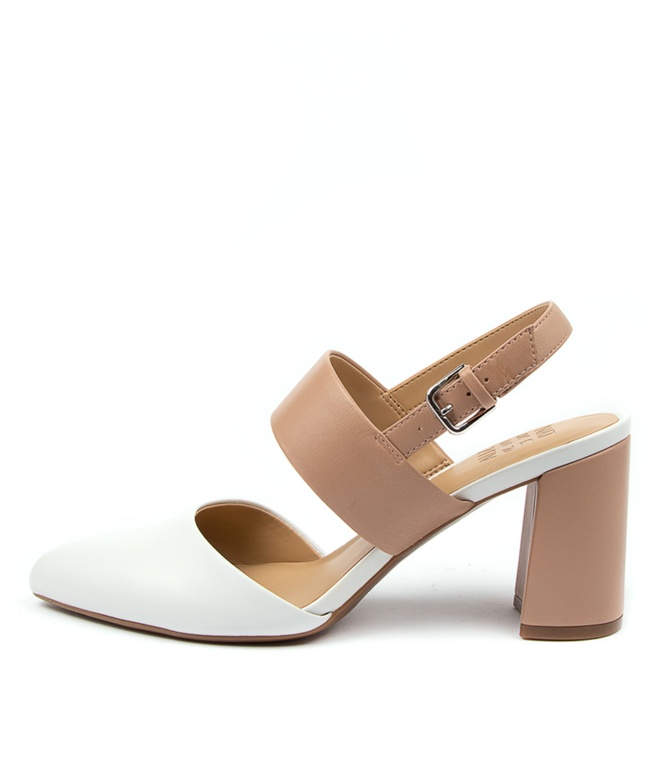 Buy Naturalizer Suzie Na White Nude HIgh Heels Shoes online with free shipping