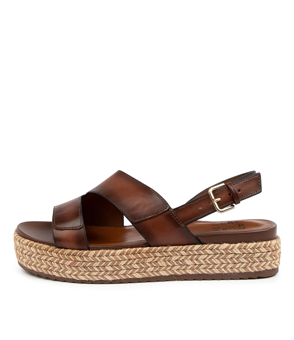 Buy Naturalizer Jasmin Na Brown Flat Sandals online with free shipping