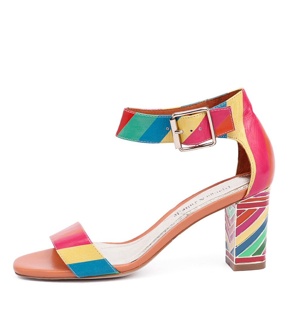 Django & Juliette Nancie Bright Multi Casual Heeled Sandals