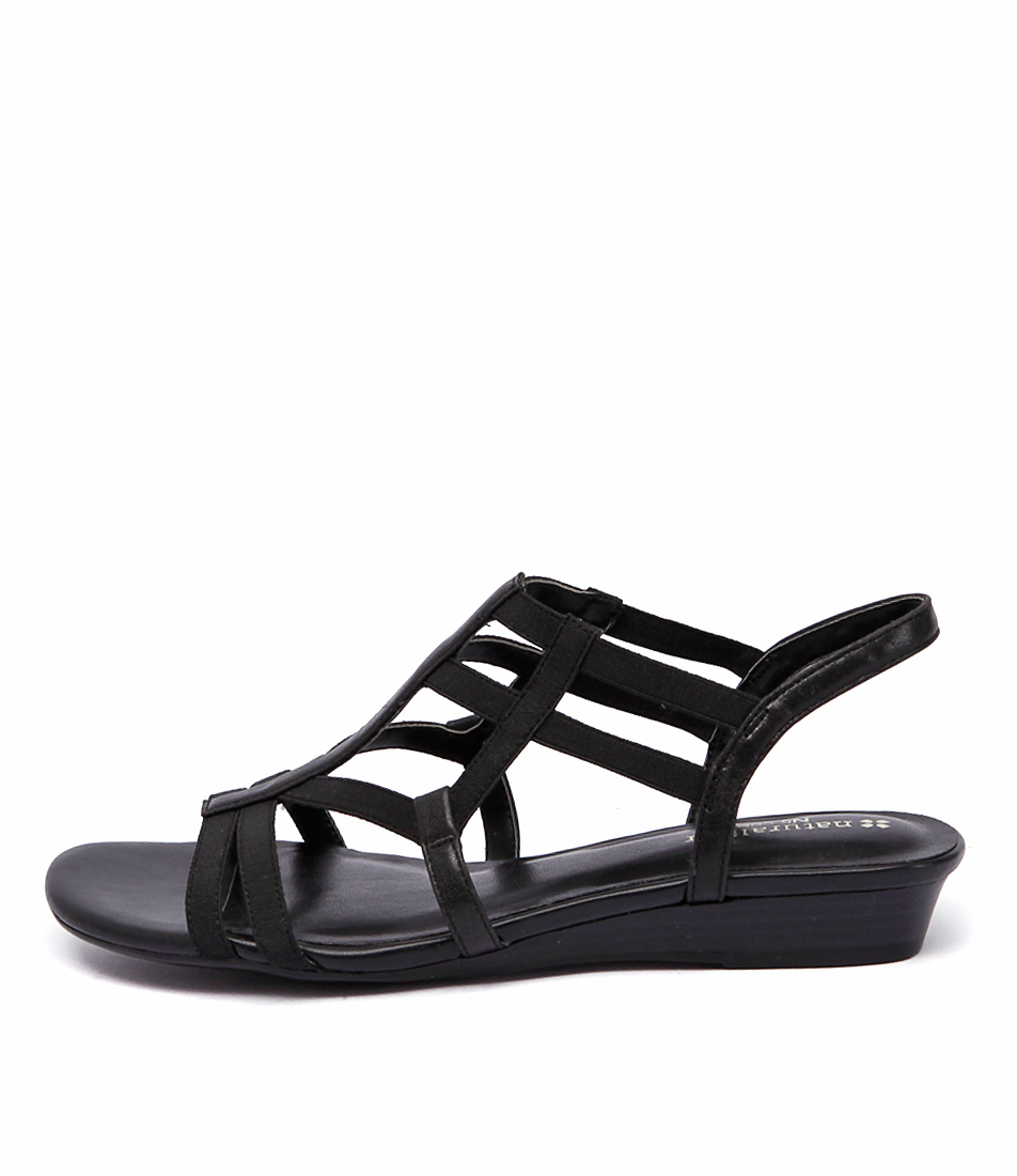 Naturalizer Joanie Black Casual Flat Sandals
