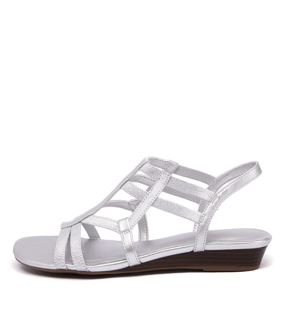 Naturalizer Joanie Silver Metallic Casual Flat Sandals