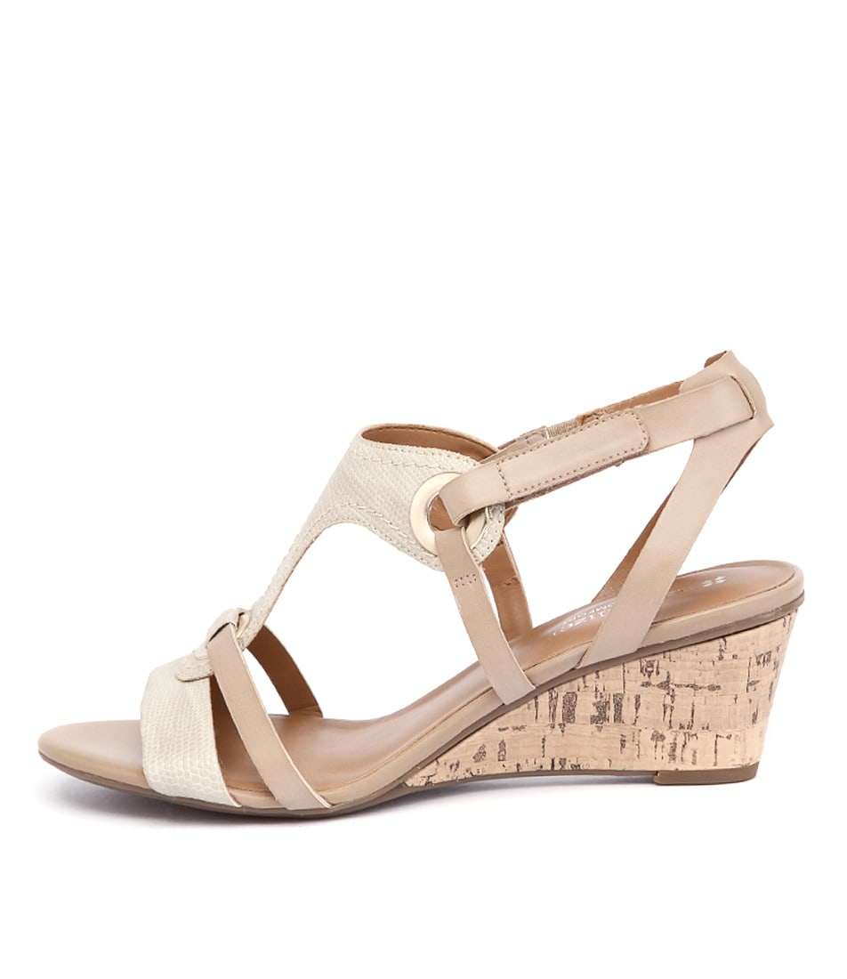 Naturalizer Heston Gold Casual Heeled Sandals