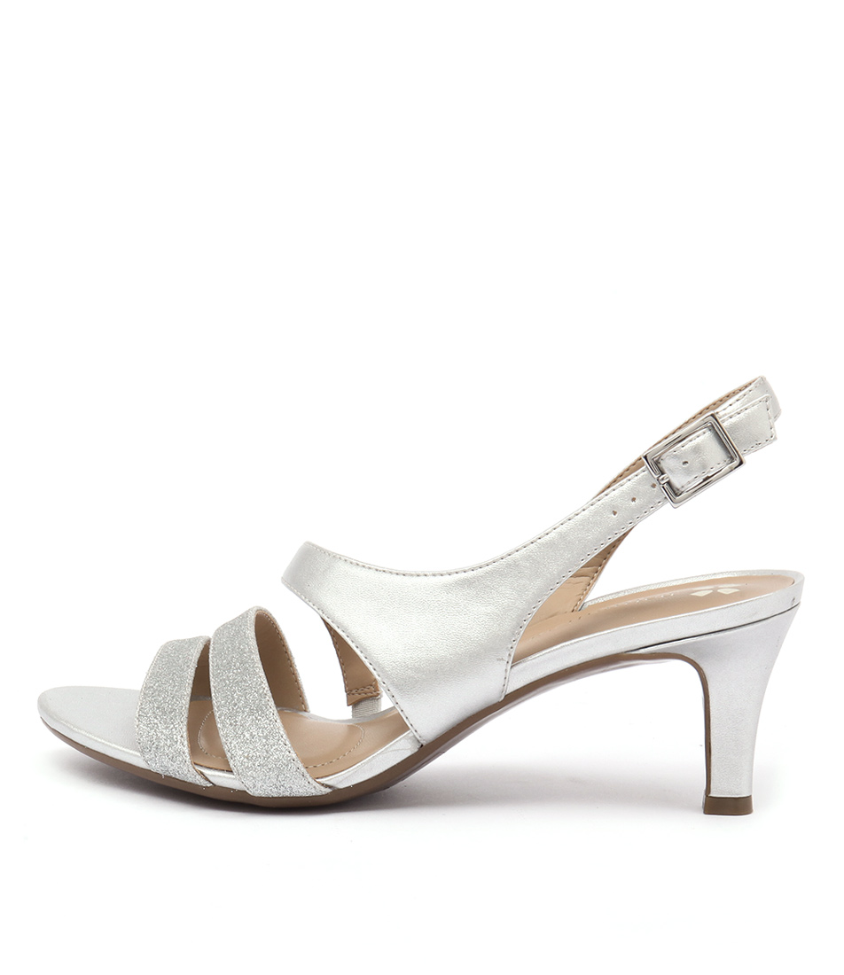 Naturalizer Taimi Silver Dress Heeled Sandals
