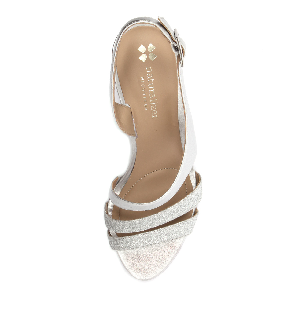 New-Naturalizer-Taimi-Silver-Womens-Shoes-Dress-Sandals-Heeled