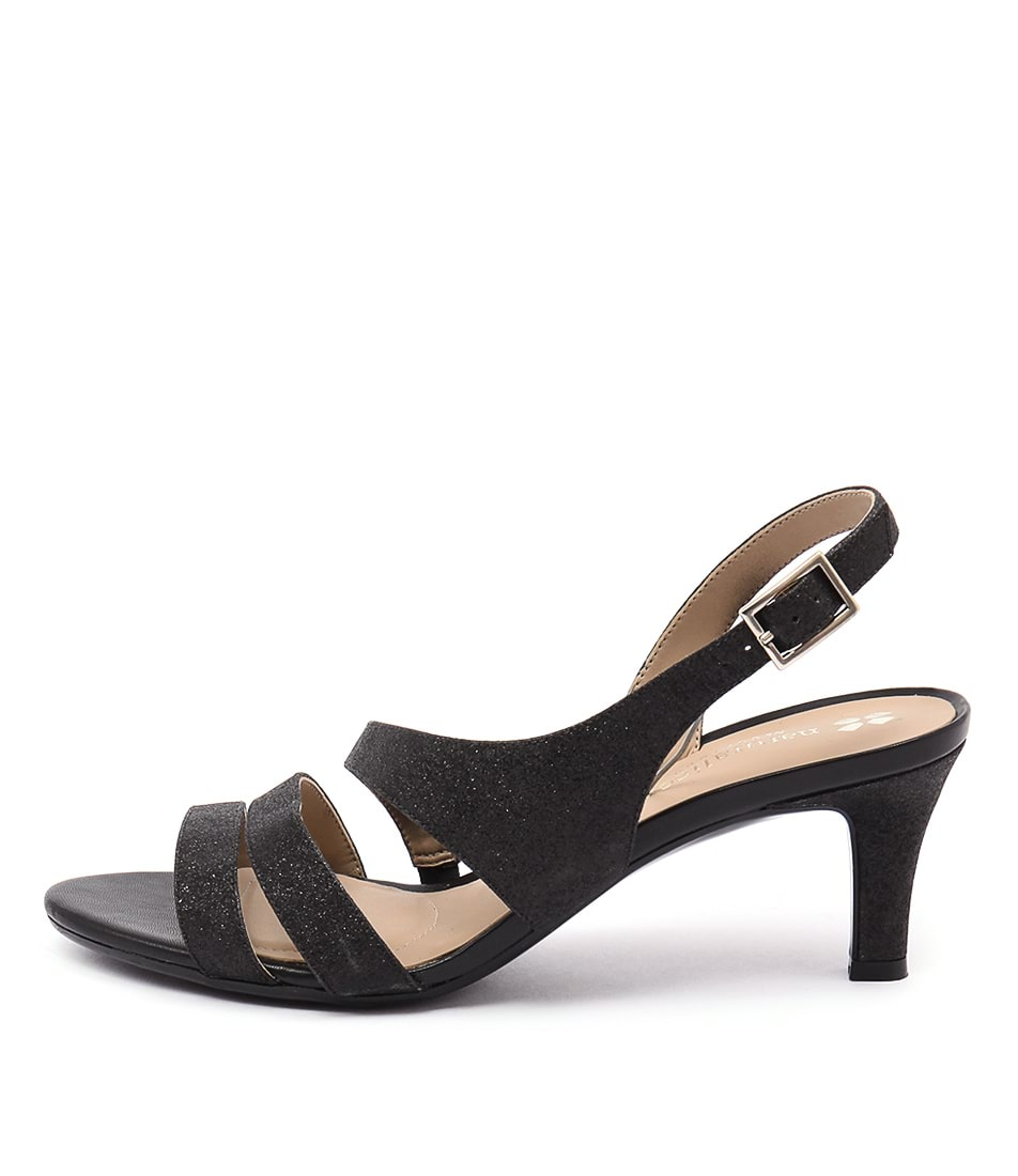 Naturalizer Taimi Black Glitter Heeled Sandals