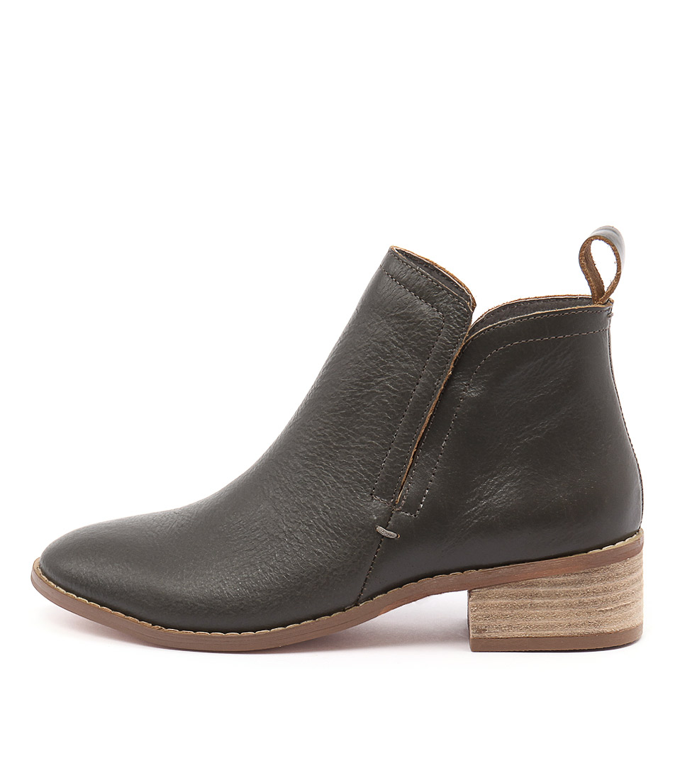 Nude Able Grey Casual Ankle Boots