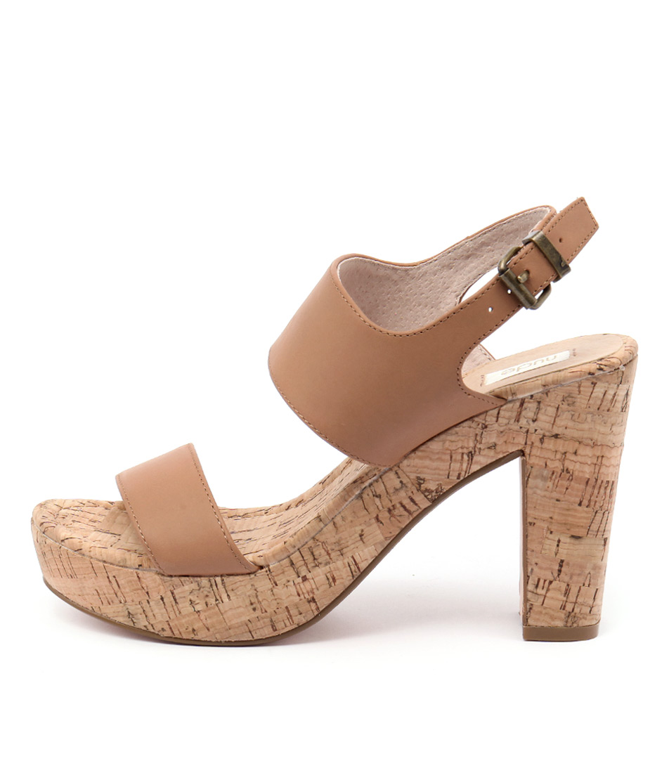 Nude Soul Tan Casual Heeled Sandals