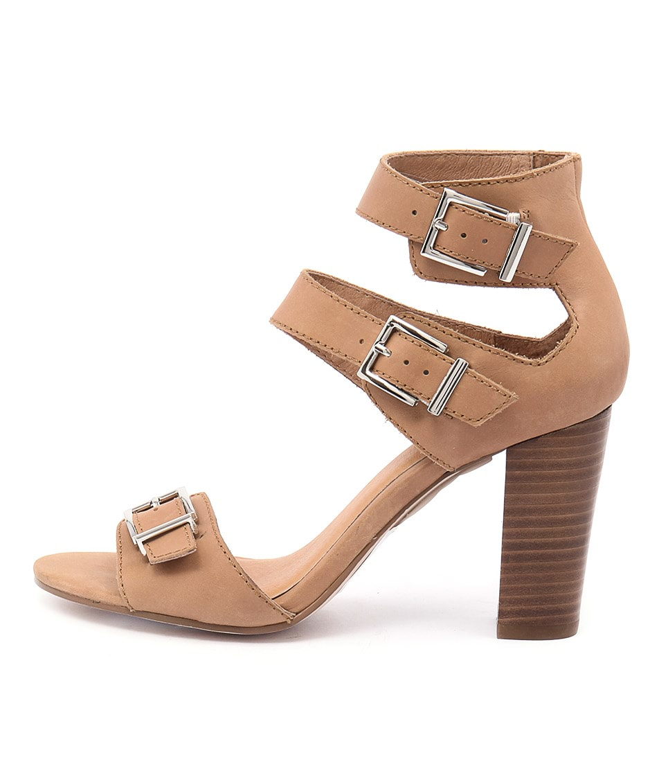 Nude Bliss Tan Casual Heeled Sandals