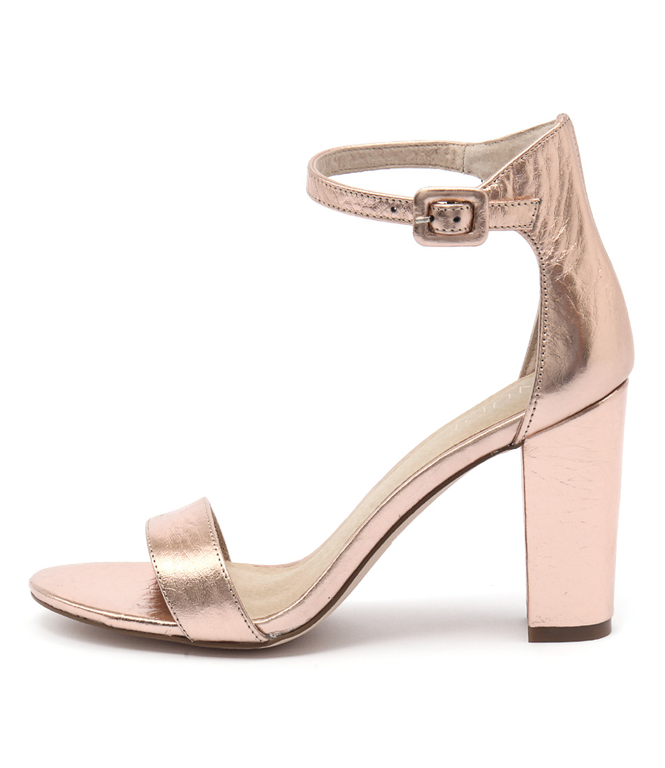 Buy Nude Dakota Nu Rose Gold Heeled Sandals online with free shipping