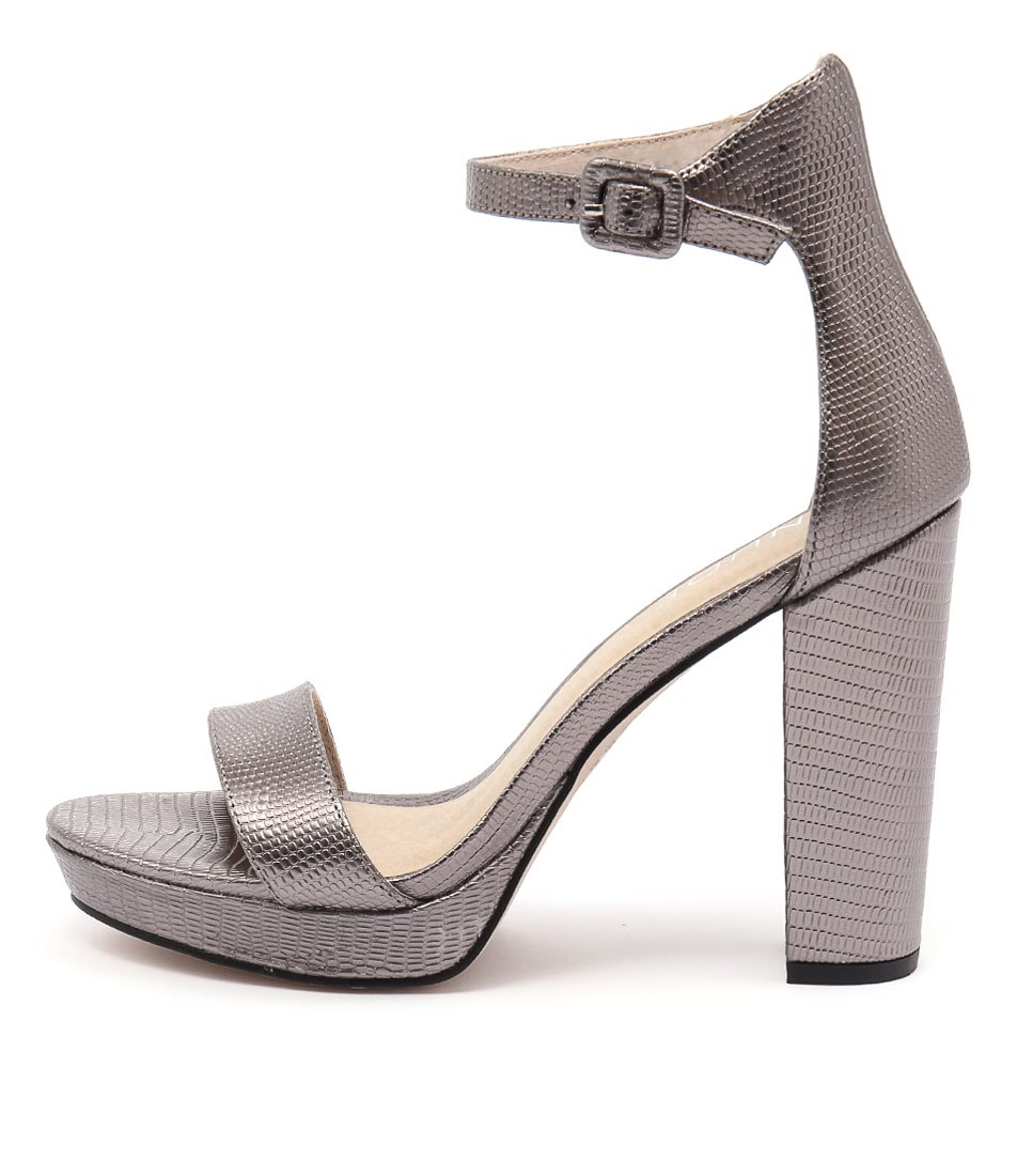 Nude Flamenco Pewter Heeled Sandals