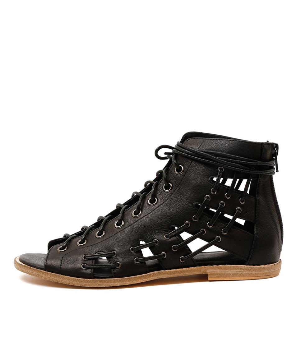 Mollini Navada Black Casual Flat Sandals