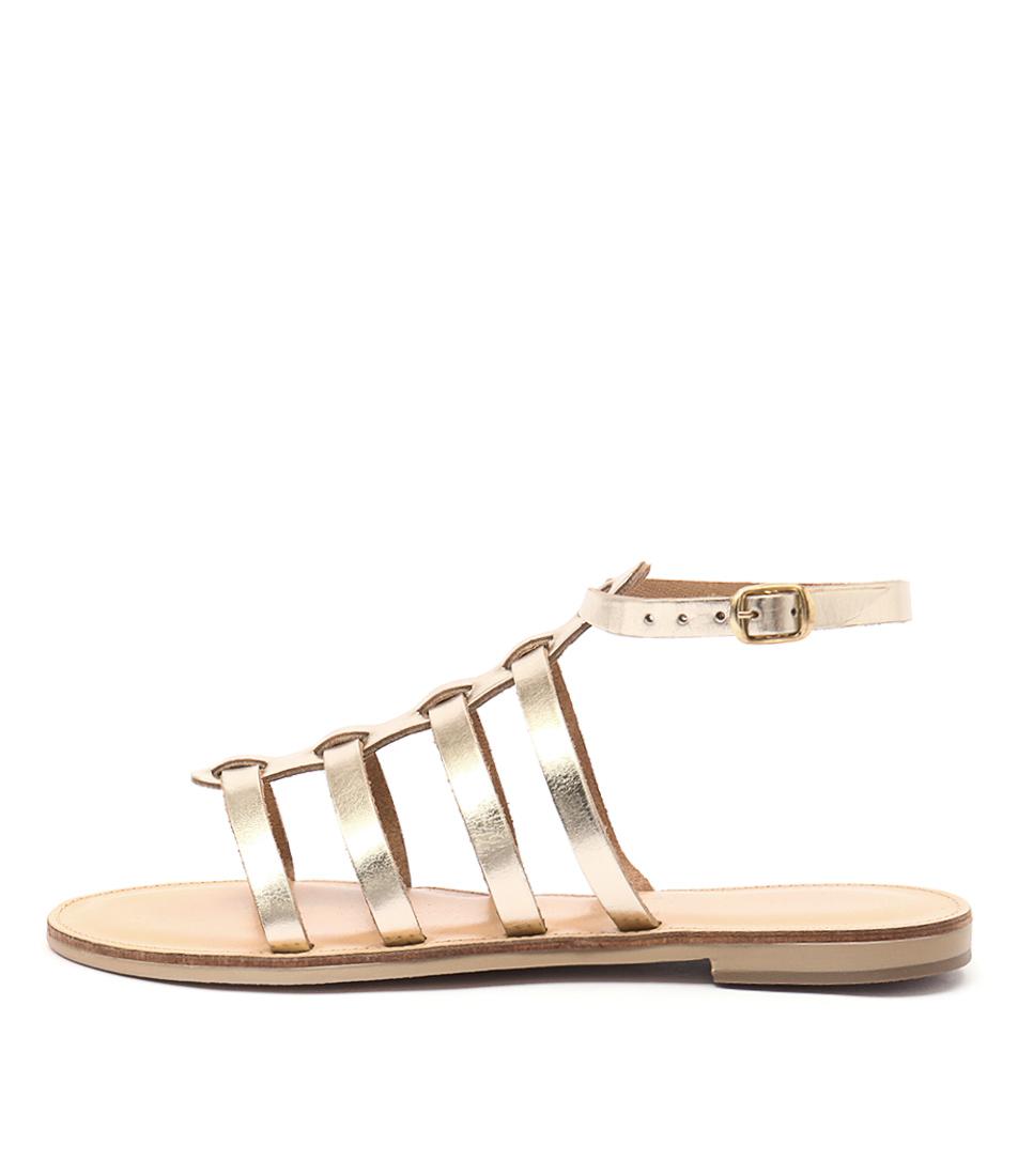 Nicolas Lainas Nikos Gold Casual Flat Sandals