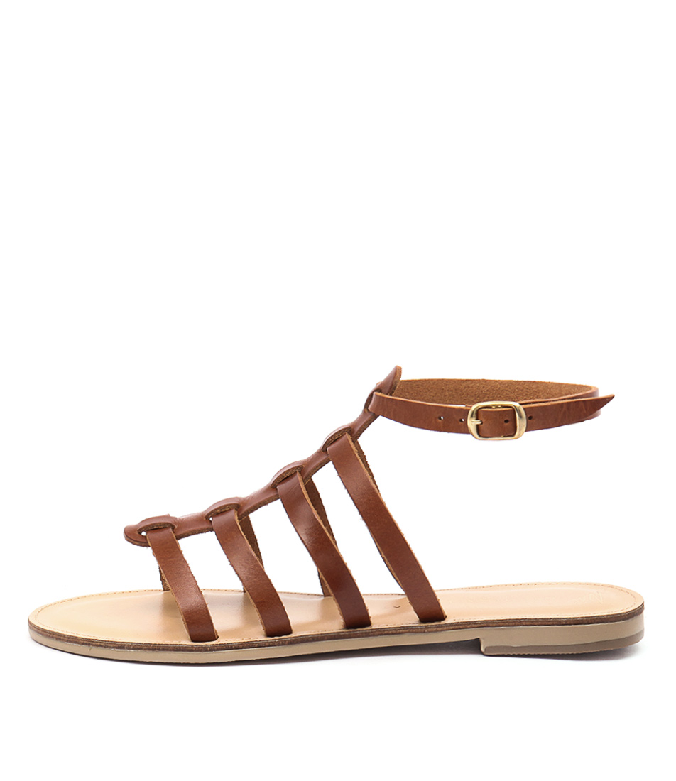 Nicolas Lainas Nikos Tan Casual Flat Sandals