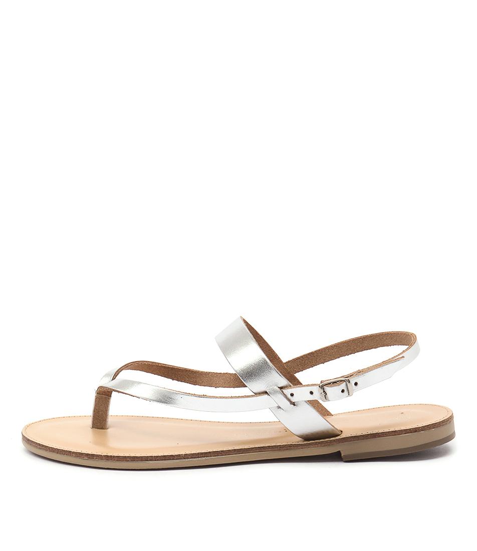 Nicolas Lainas Natalia Nl Silver Casual Flat Sandals