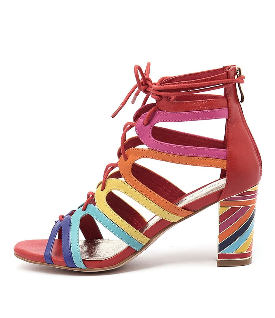 Django & Juliette Niche Bright Multi Heeled Shoes