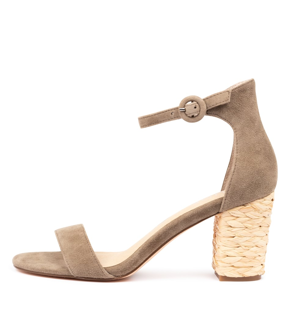 Buy Nude Silence Khaki Heeled Sandals online with free shipping