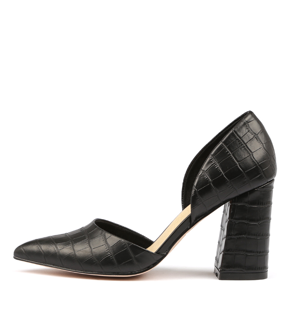Nude Rocco Nu Black Heeled Shoes