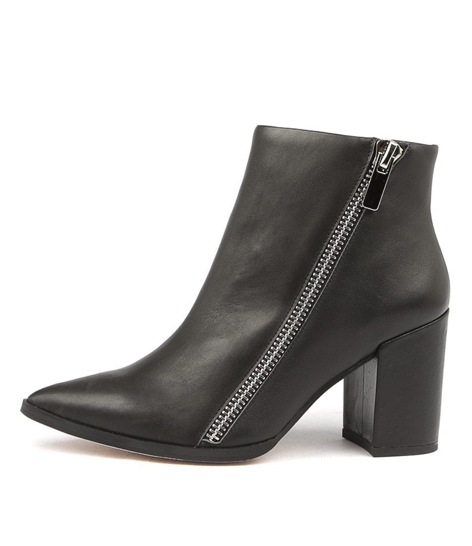 Buy Nude Stevie Nu Black Dress Ankle Boots online with free shipping