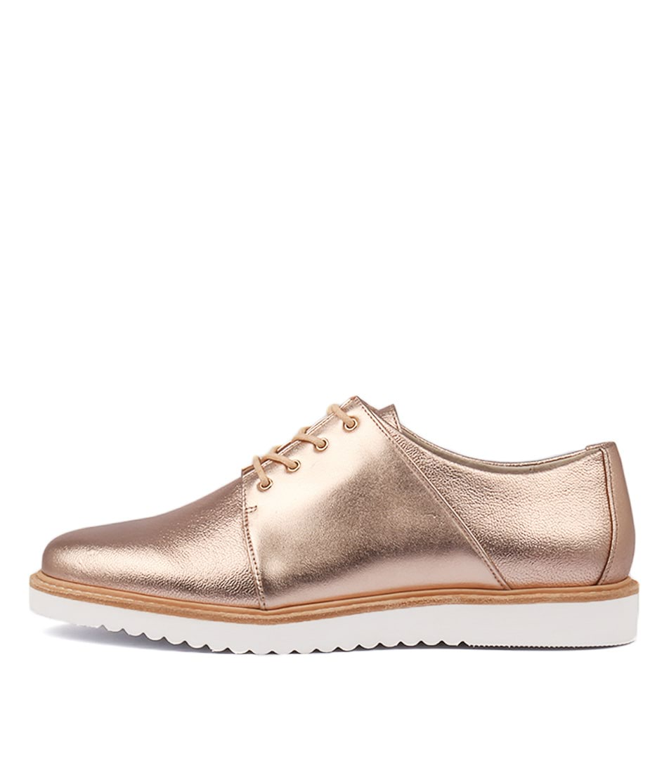 Buy Nude Willa Nu Rose Gold Flats online with free shipping