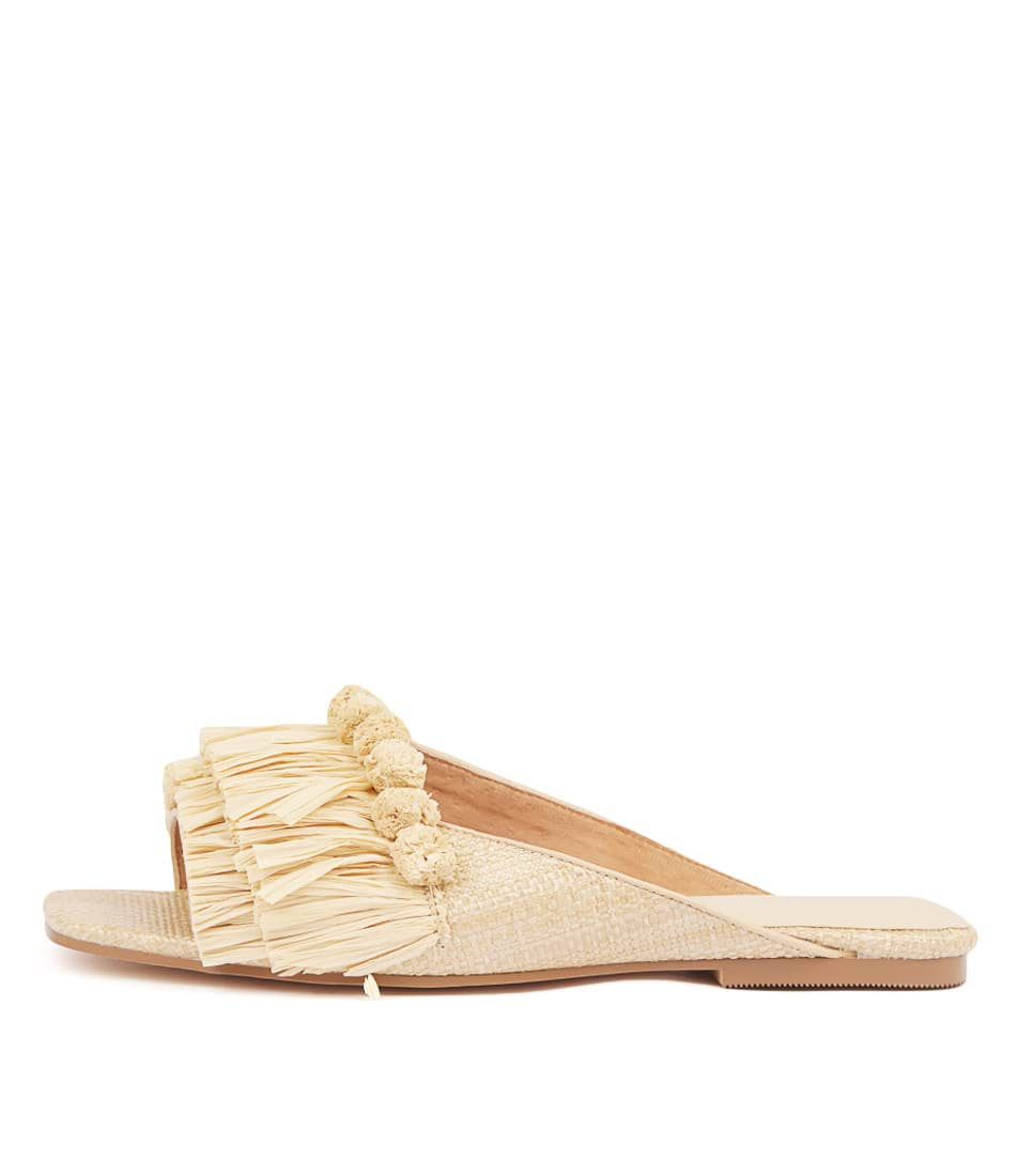 Buy Nude Taje Natural Flat Sandals online with free shipping