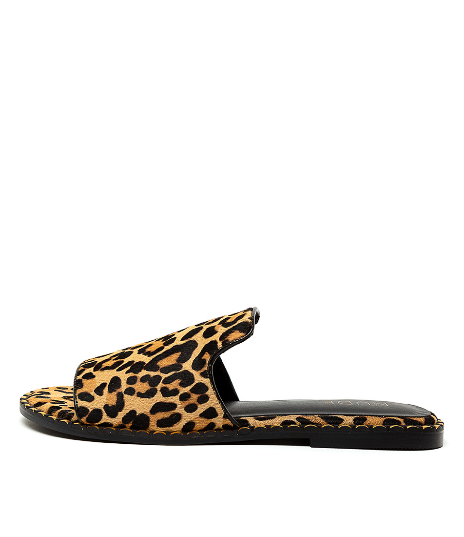 Buy Nude Santo Nu Leopard Flats online with free shipping