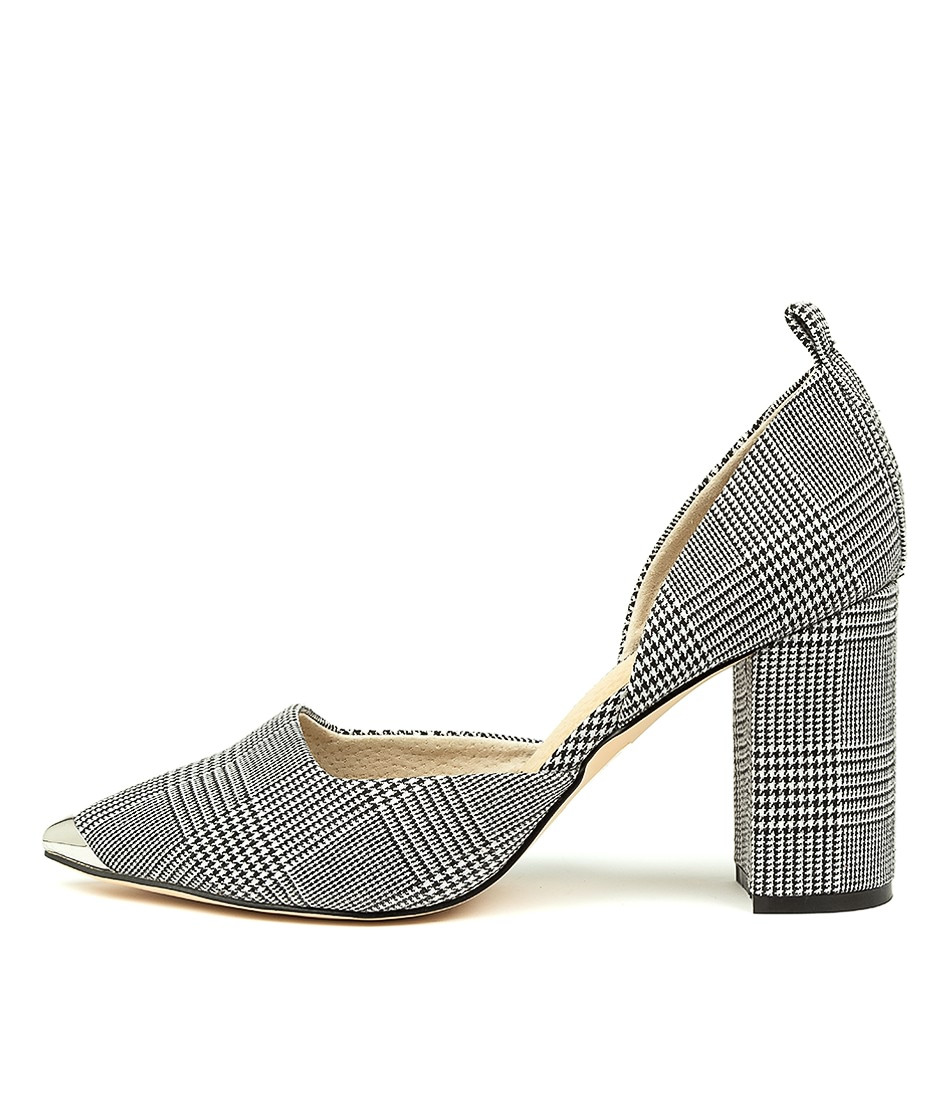Buy Nude Romaine Nu Plaid High Heels online with free shipping