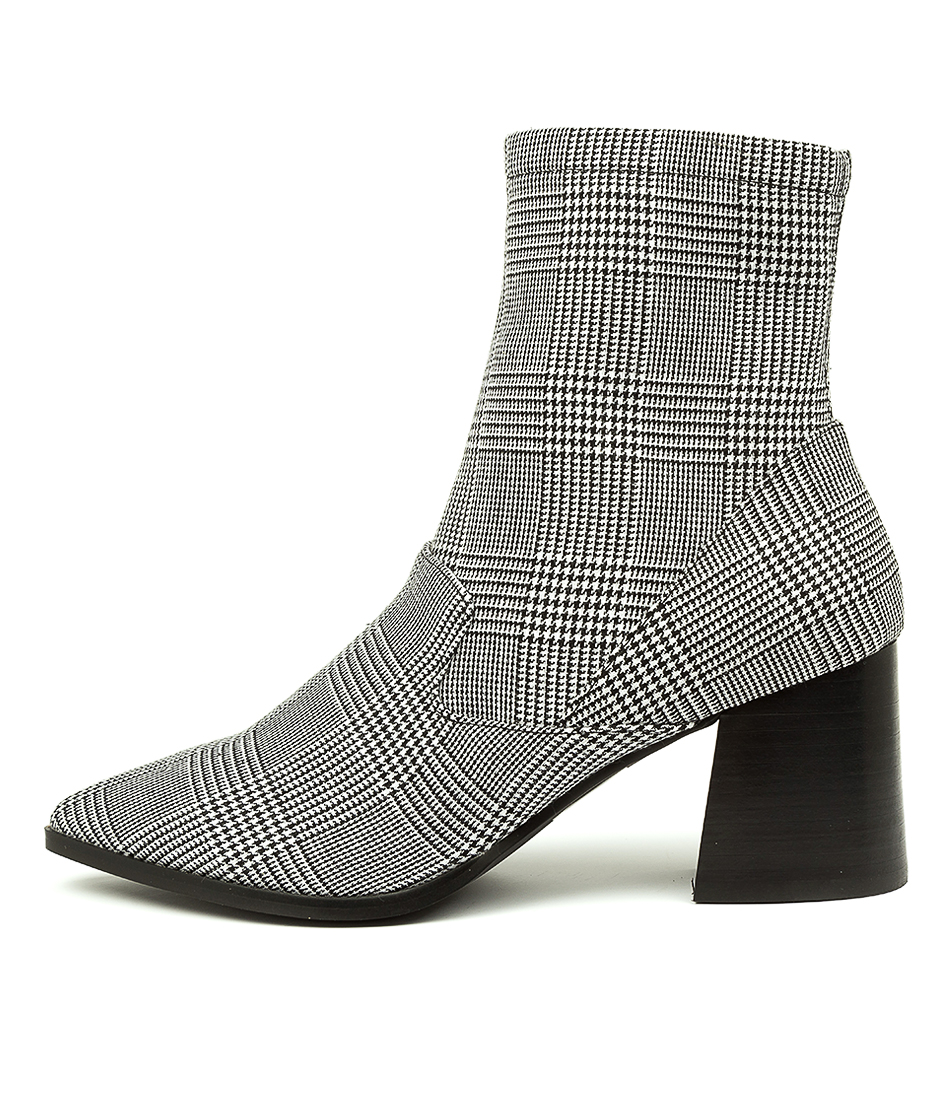 Buy Nude Novah Nu Plaid Ankle Boots online with free shipping