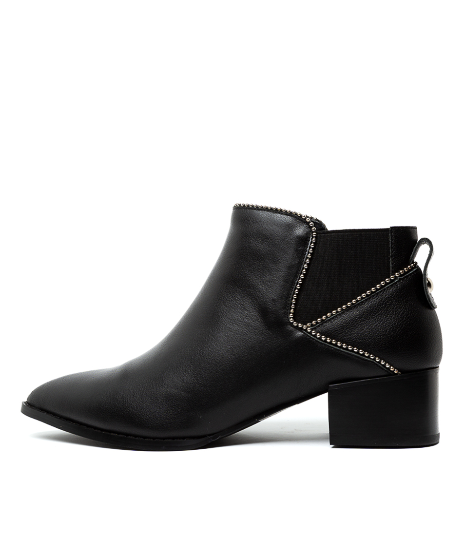 Buy Nude La Rue Black Ankle Boots online with free shipping
