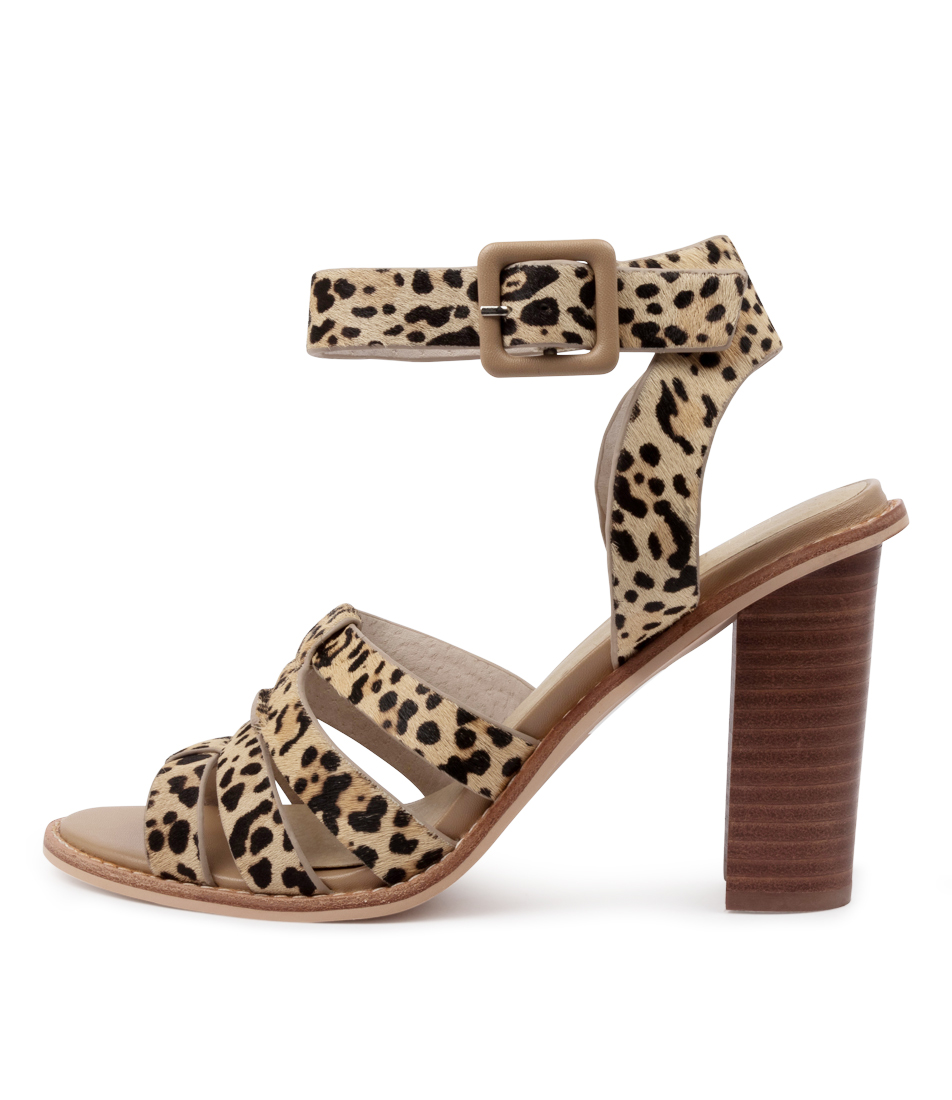 Buy Nude Lela Nu Leopard Heeled Sandals online with free shipping