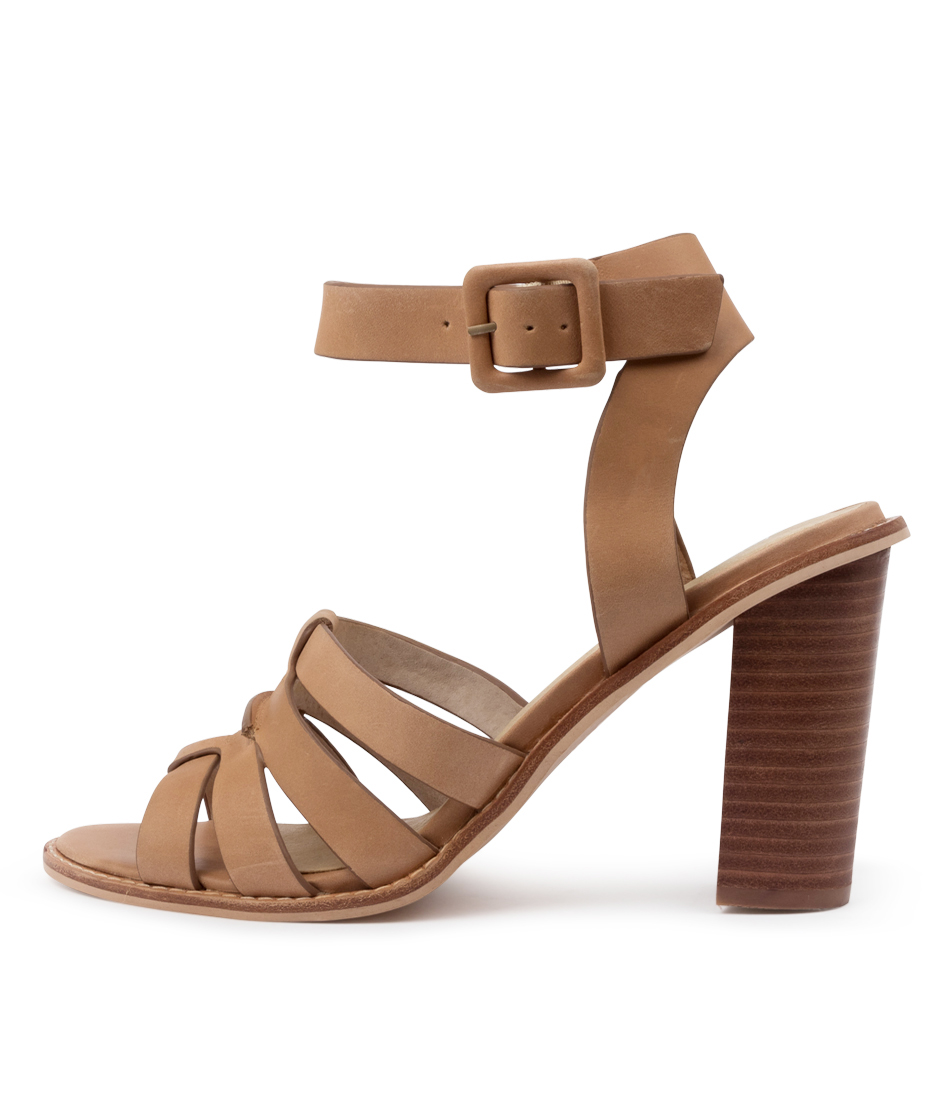 Buy Nude Lela Nu Tan Heeled Sandals online with free shipping